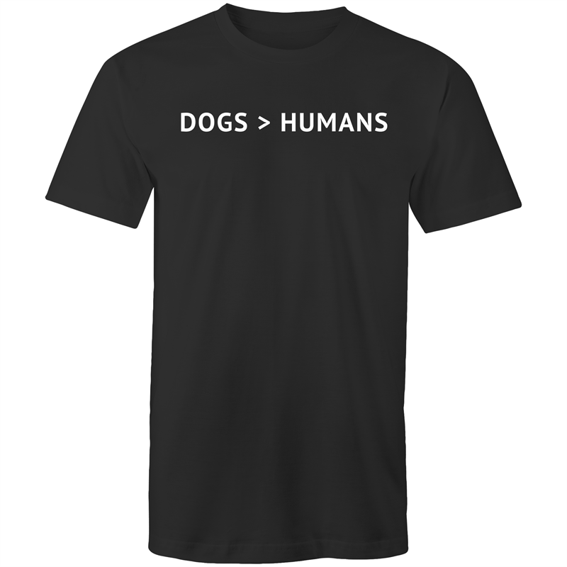 Dogs > Humans - Men's Shirt - Human - The Sophisticated Pet