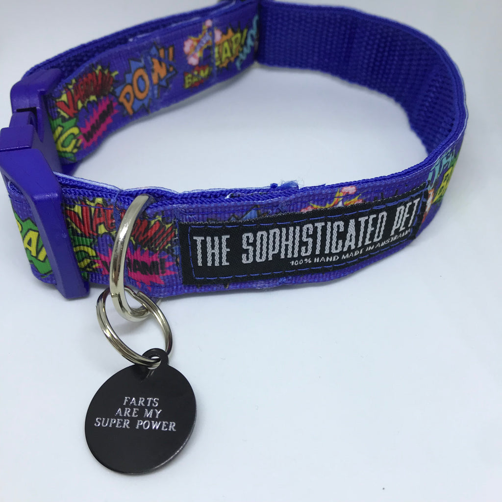 Farts Are My Super Power - Dog Tags - The Sophisticated Pet