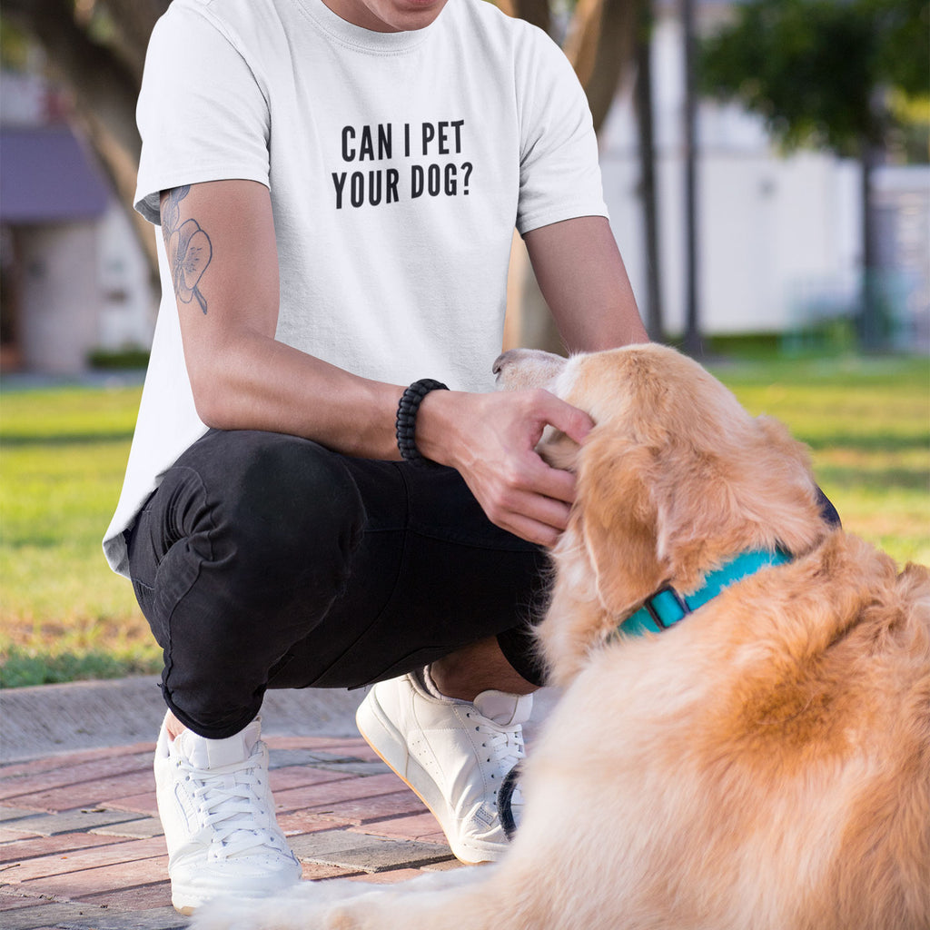 Can I Pet Your Dog - Men's Shirt - Human - The Sophisticated Pet
