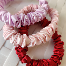 Load image into Gallery viewer, Deluxe Silk Scrunchies (Hair Tie)  - Lavender Love