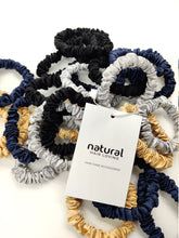 Load image into Gallery viewer, Deluxe Silk Scrunchies (Hair Tie) - Blue Sapphire