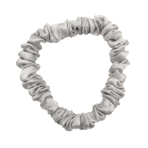 Deluxe Silk Scrunchies (Hair Tie)  - Silver Saviour
