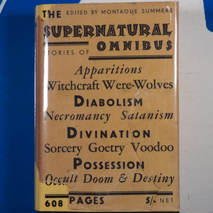 The Supernatural Omnibus Montague Summers (Editor). Publication Date: 1931 Condition: Near Fine