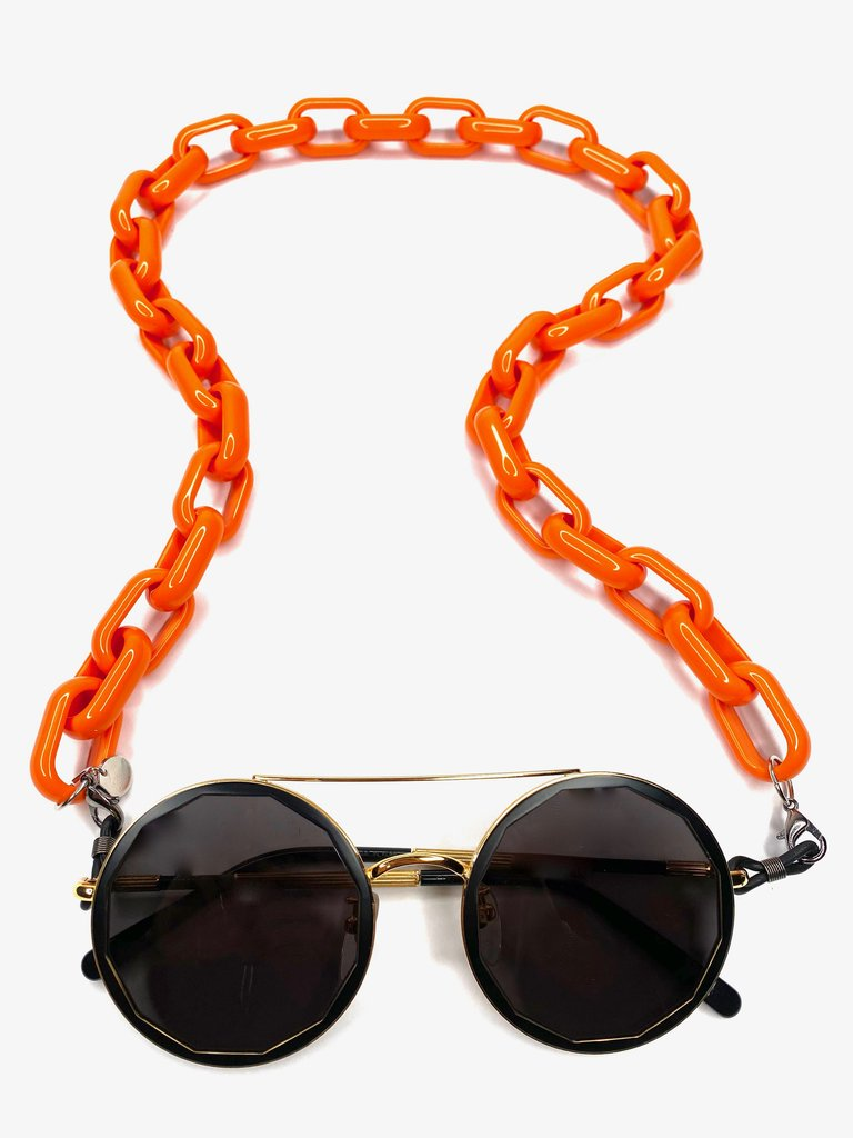 Glasses & Mask Chain in Burnt Orange