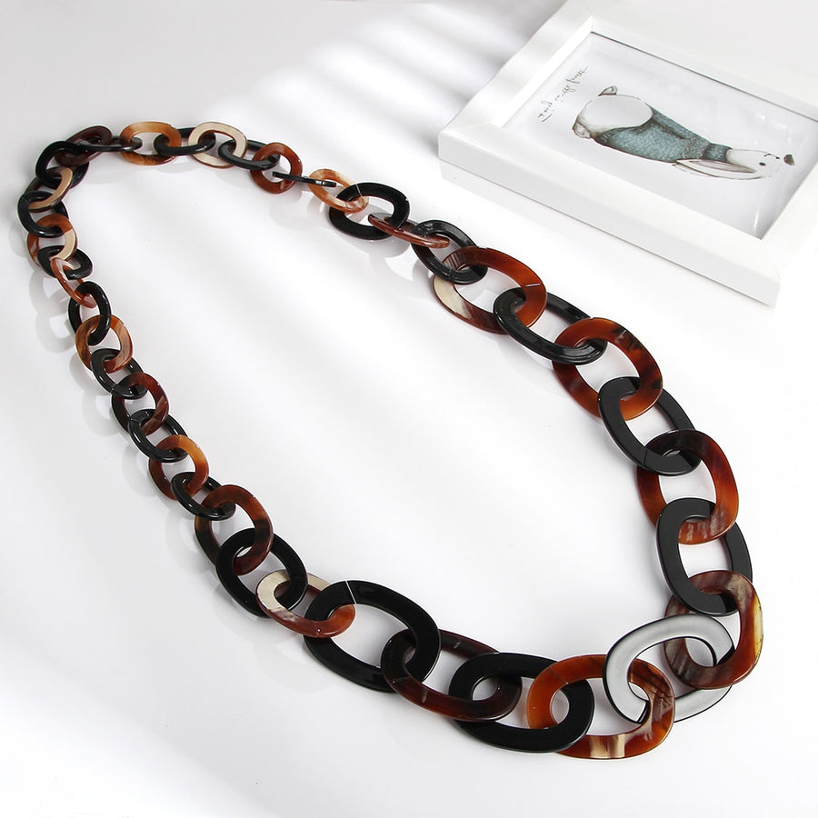 Thin Link Long Necklace