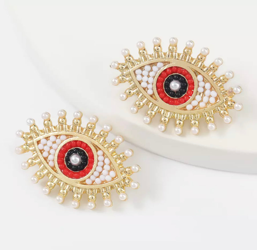 Pearl Eye Oversized Studs
