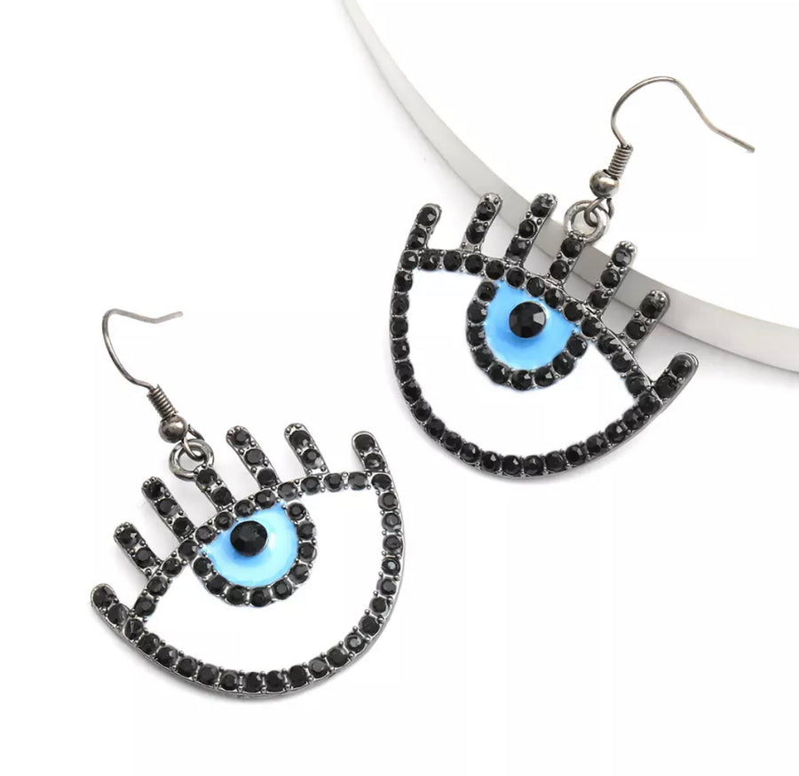 Big Blue Eyes Earrings