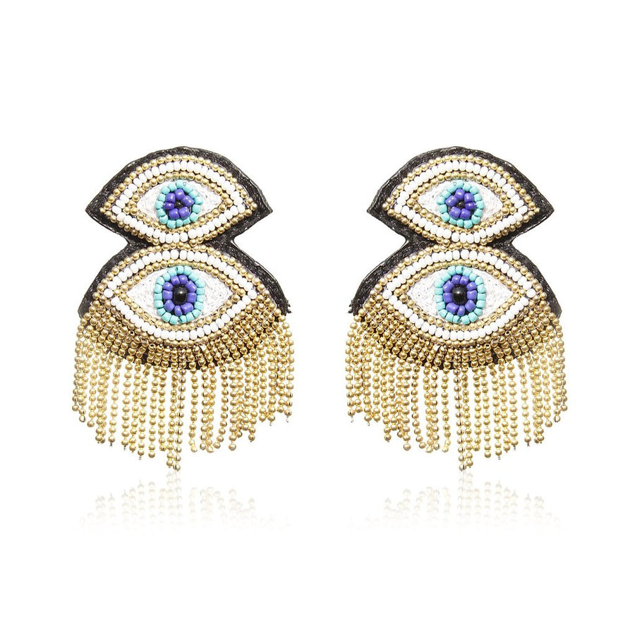 Statement Luxury Evil Eye Earrings