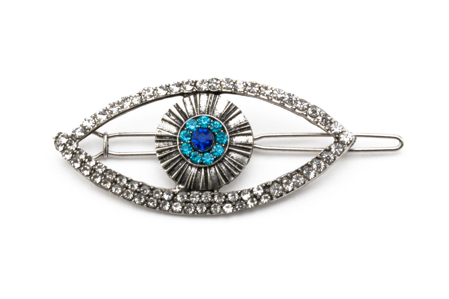 Vintage Rhinestone Big Eye Hairpin