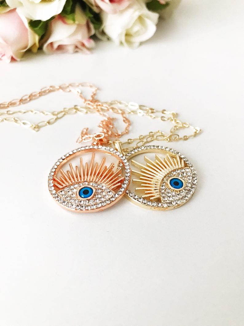 Handmade Evil Eye Necklace
