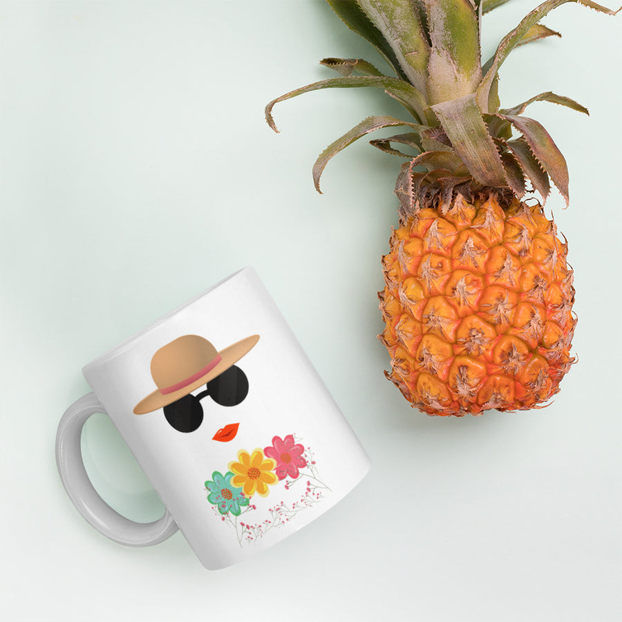 Lady in Sunglasses Coffee Mug