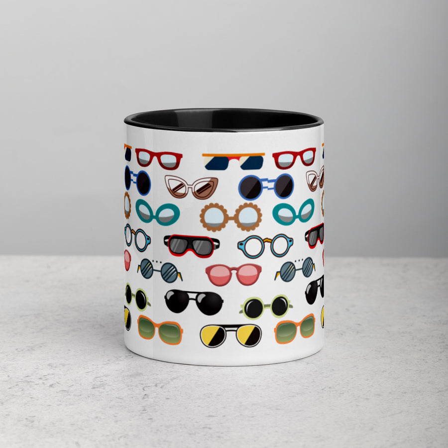 Glasses Mug with Black Color Inside