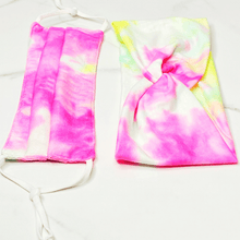 Load image into Gallery viewer, Tie Dye Pattern Face Mask And Headband