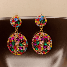 Load image into Gallery viewer, Picasso Rhinestone Raindrop Earrings