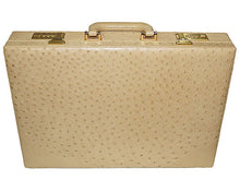 Load image into Gallery viewer, Los Altos Ostrich Attache Case Beige