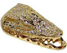 Load image into Gallery viewer, Mauri Open Mouth Lace Accessories with Rhinestones Gold