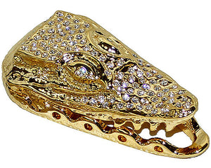 Mauri Open Mouth Lace Accessories with Rhinestones Gold