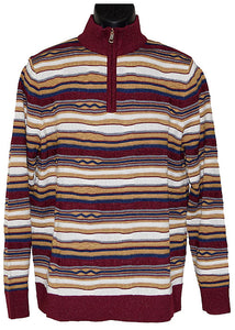 Steven Land Sweater # 419  Burgundy Combo