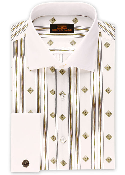 Steven Land Shirt # 2035 White