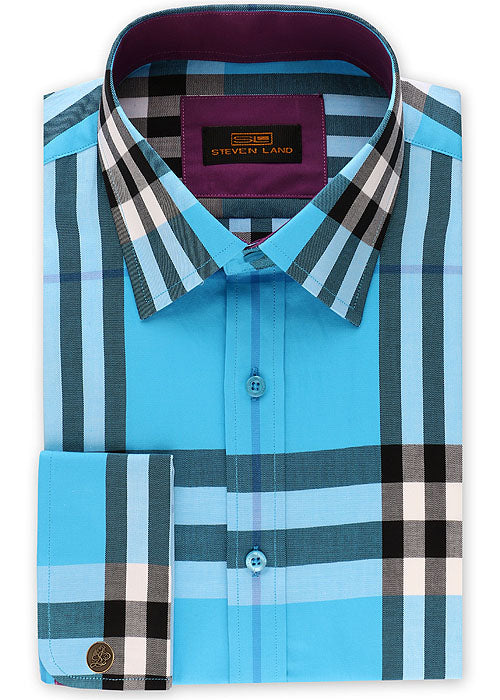 Steven Land Shirt # DS2054 Blue