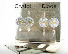 Load image into Gallery viewer, White PCB Earrings - Sterling Silver