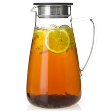 Load image into Gallery viewer, Flask Glass Ice Tea Jug 64 oz