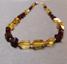 Load image into Gallery viewer, GOLD FILLED GARNET CITRINE NECKLACE/EARRINGS - REVITALIZED CREATIVITY TALISMAN