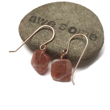 Load image into Gallery viewer, GOLD FILLED SUNSTONE EARRINGS - JOYFUL TALISMAN