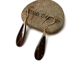 Load image into Gallery viewer, GOLD FILLED TIGER EYE MEDIUM DROP EARRINGS - THE MIDDLE PATH TALISMAN
