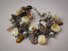 Load image into Gallery viewer, COPPER CITRINE STACKED BRACELET - PROSPERITY TALISMAN