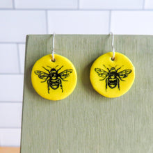 Load image into Gallery viewer, Busy Bee Earrings