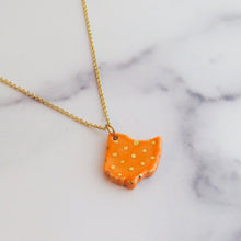 Load image into Gallery viewer, Ohio Large Polka Dot Gold Necklace