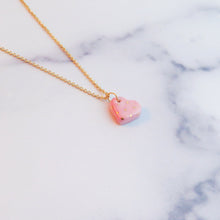 Load image into Gallery viewer, Heart Polka Dot Gold Necklace