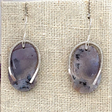 Load image into Gallery viewer, STERLING SILVER AMETHYST SAGE EARRINGS - LOVE THYSELF TALISMAN