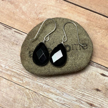 Load image into Gallery viewer, STERLING SILVER BLACK ONYX EARRINGS - STAMINA TALISMAN