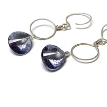 Load image into Gallery viewer, STERLING SILVER CORNFLOWER BLUE QUARTZ NECKLACE EARRINGS - SYNCH ME TALISMAN