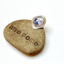 Load image into Gallery viewer, STERLING SILVER DUMORTIERITE IN QUARTZ BEZEL RING - STAND UP TALISMAN