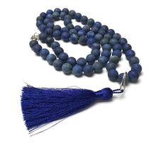 Load image into Gallery viewer, STERLING SILVER HAND SILK KNOTTED SODALITE NECKLACE - INNER PEACE TALISMAN