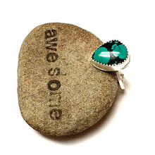 Load image into Gallery viewer, STERLING SILVER TURQUOISE TEARDROP BEZEL RING - I HEAL WITH LOVE TALISMAN