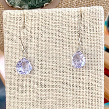 Load image into Gallery viewer, STERLING SILVER PALE LAVENDER QUARTZ BRIOLETTE EARRINGS - A SYNCH ME TALISMAN