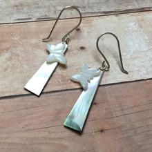 Load image into Gallery viewer, STERLING SILVER MOP EARRINGS - SOFT WINGED BUTTERFLY TALISMAN