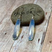 Load image into Gallery viewer, STERLING SILVER OPALITE LONG DROP EARRINGS - EFFECTIVE COMMUNICATION TALISMAN