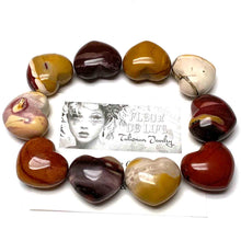 Load image into Gallery viewer, MOOKAITE HEART PALM STONE - CELEBRATING CHANGE TALISMAN