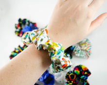 Load image into Gallery viewer, handmade stem robot robotics scrunchie