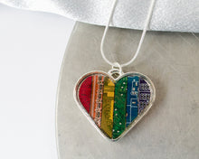 Load image into Gallery viewer, Rainbow Heart Necklace