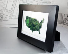 Load image into Gallery viewer, USA Circuit Board Wall Art