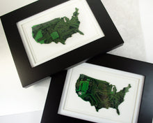 Load image into Gallery viewer, USA silhouette made from circuit board
