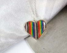 Load image into Gallery viewer, Rainbow Ribbon Cable Heart Necklace
