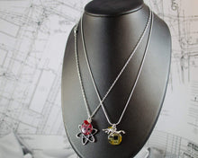 Load image into Gallery viewer, Atom and Circuit Board Charm Necklace