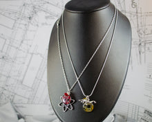 Load image into Gallery viewer, Robot and Circuit Board Charm Necklace